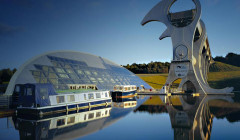 Descargar Fondo del ascensor de barcos Falkirk Wheel