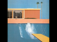 "Fondo de David Hockney ""A bigger splash"""