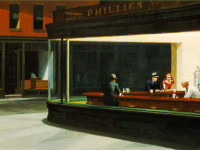 "Fondo de Edward Hopper ""Nighthawks"""