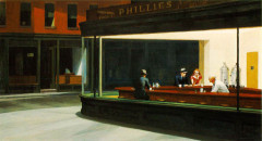 "Descargar Fondo de Edward Hopper ""Nighthawks"""