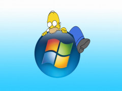 Descargar Fondo de Homer comiendo el logo de windows