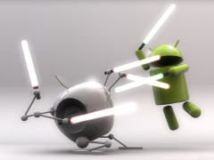 Descargar Fondo de pantalla de Android Vs. Apple